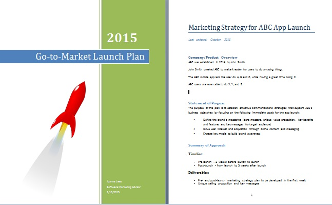app press release template - app go to market strategy plan